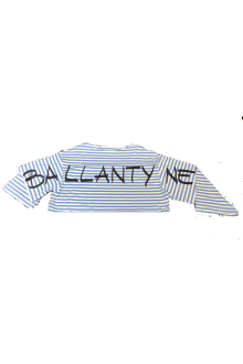T-shirt Ballantyne a righe con manica lunga