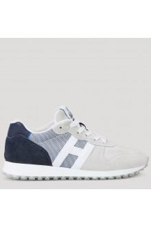 Sneaker Hogan H383 bianca e blu