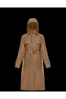 Camel trench Vanille Moncler