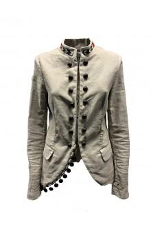 Beige cotton and linen jacket Bazar Deluxe