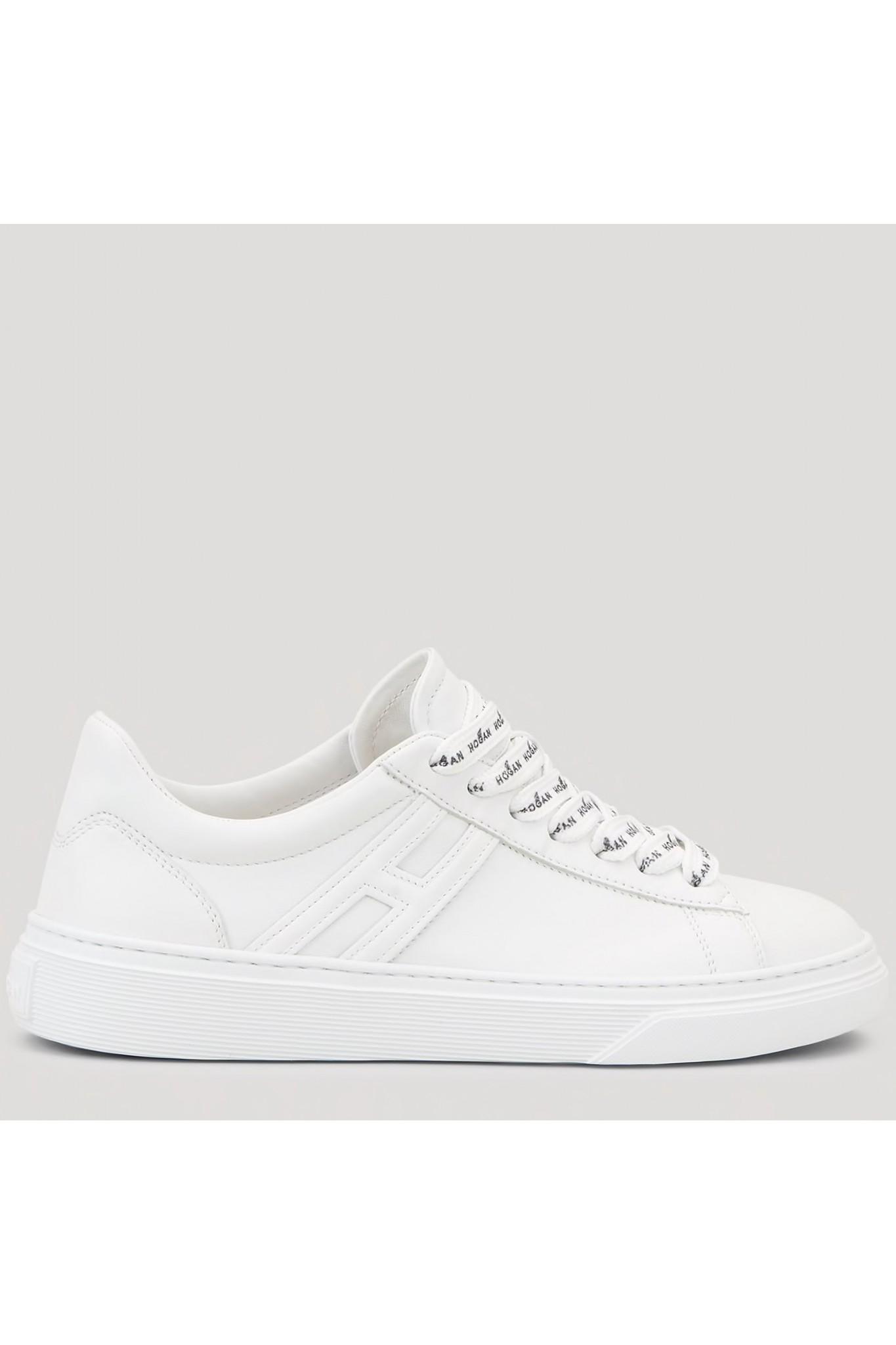 Vendita online scarpe Hogan H365 in pelle bianca da donna.