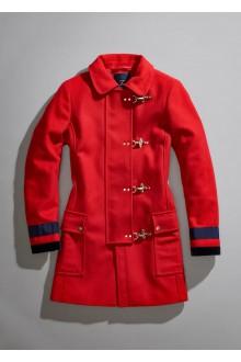 Cappotto Fay 4 ganci in lana rosso
