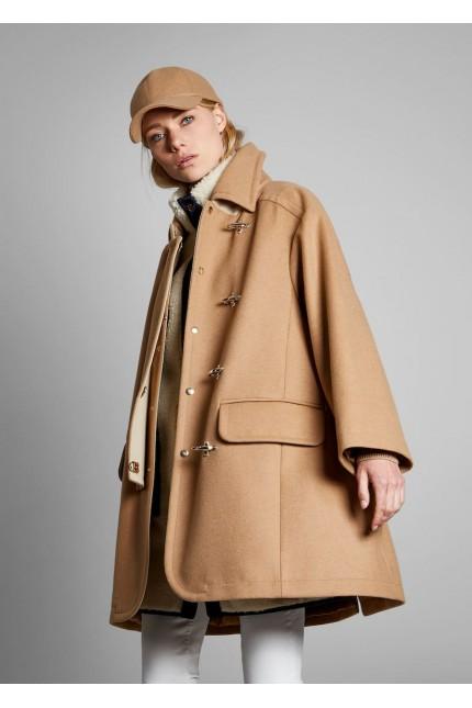 Cappotto Fay a mantella cammello