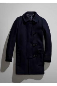 Cappotto Fay 4 ganci in lana blu