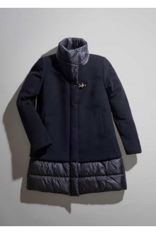 Fay black quilted coat