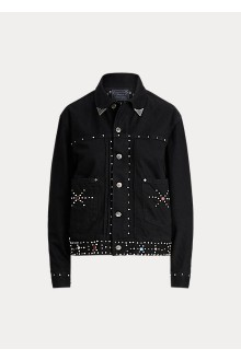 Studded black Denim Jacket