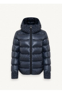 Colmar short jacket in real duvet black