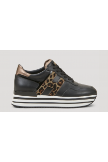 Sneakers Midi H222 Hogan nera