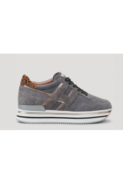 Sneakers Hogan H222 midi grigia