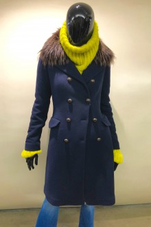 Navy wool coat Bazar Deluxe