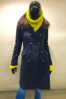 Cappotto lana blu ricamato Bazar Deluxe