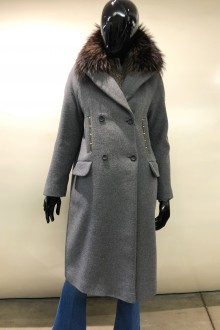 Cappotto lana grigio ricamato Bazar Deluxe