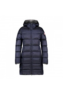 Colmar navy long jacket in real duvet with hood
