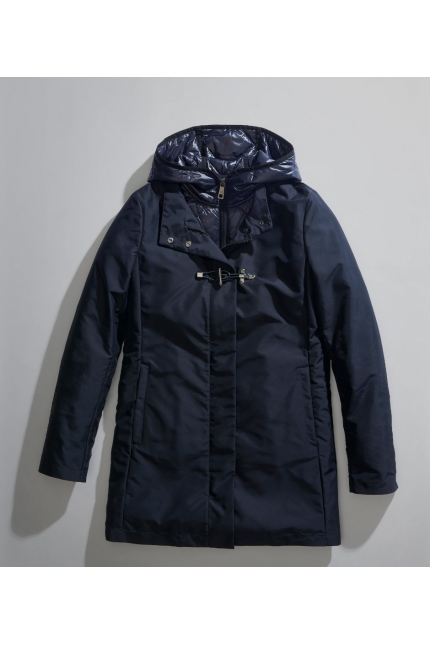 Trench Fay blu con gilet staccabile