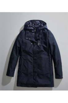 Navy Fay Coat with toggle coat