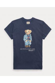 T-shirt Ralph Lauren Polo Bear blu