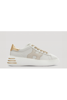 Women's Hogan Rebel H562 sneakers white and gold