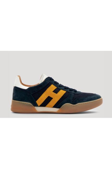 Sneakers Hogan H357 blu e gialla