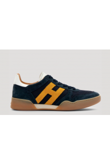 Sneakers Hogan H357 blue and yellow