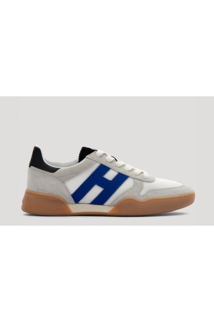 Sneakers Hogan H357 bianca e bluette