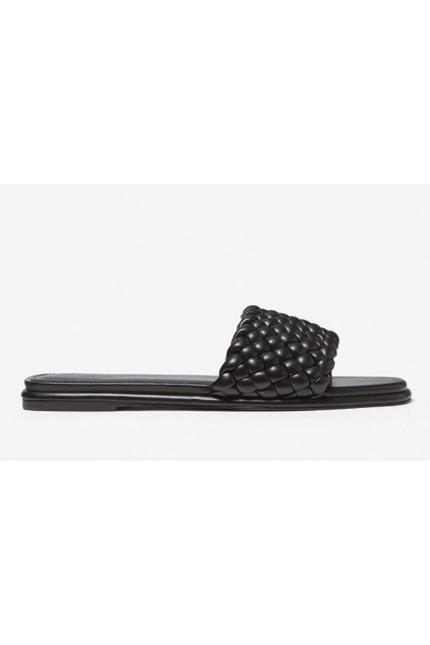 Sandalo Michael Kors intrecciato nero