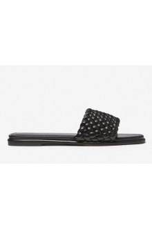 Michael Kors's braided black slide sandal