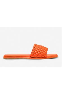 Sandalo Michael Kors intrecciato arancione