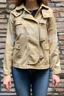 Fay's jacket in beige cotton stonewashed